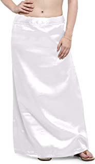 Kalagiri Women's Satin Petticoat Saree Satin Underskirt Sari Satin Silk Petticoat