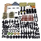 Leic Figure Weapon Armor Set for Building Block Knight Minifigures Soldiers SWAT Team Compatible Wit