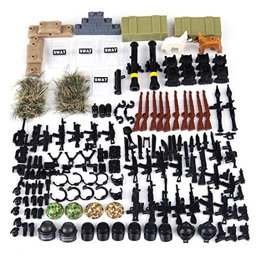 Età consigliata: 3 anni + Set di Armi Custom: ABS Armi in miniatura per i personaggi lego, armi compatibili LEGO Perfettamente compatibili con i personaggi della SWAT simil Lego c Bel regalo: Questo giocattolo è un regalo per compleanno di bambini, N...