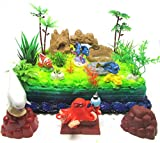 Finding Nemo 15 Piece Birthday Cake Topper Featuring 5 Random Nemo Characters and Other Decorative Themed Items