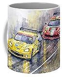 Lplpol 2011 Le Mans GTE Pro Chevrolette Corvette C6R vs Ferrari 458 Italia, tazza da tè da 325 ml