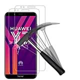 ANEWSIR [2 Pack Protector de Pantalla para Huawei Y7 Prime/Honor 7C/ Y7 2018, Cristal Templado Proyectar película Protectora Escudo Protector de la Pantalla Celular - 9H Anti-Burbuja Alta definición