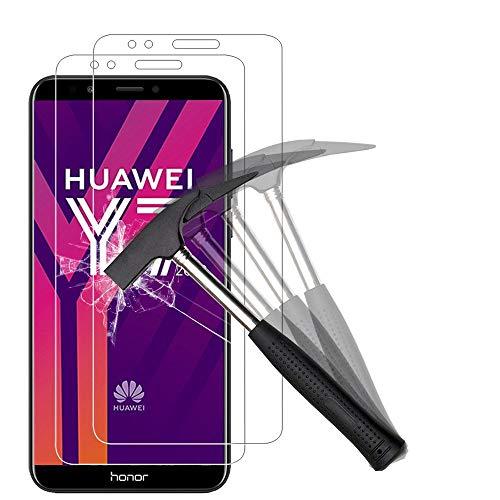ANEWSIR Schutzfolie Kompatibel mit Huawei Y7 2018/Y7 Prime 2018/Huawei Honor 7C, Anti-Kratzen, Anti-Bläschen, Displayschutzfolie Folie Screen Protector [2 Stück]