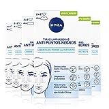 NIVEA Tiras Limpiadoras Anti Puntos Negros en pack de 6 (6x8 uds), limpiador de poros para eliminar puntos negros e impurezas rápido y cómodo, tiras de limpieza facial