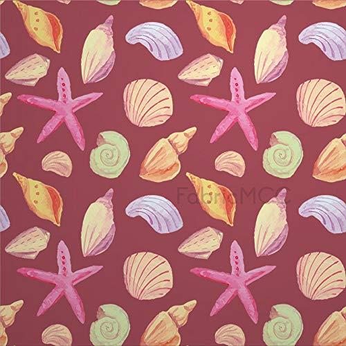 Juego de adhesivos decorativos para azulejos, diseño de conchas de invertebrados marinos, estrellas de mar, Invertebrado, 10 x 10 cm, vinilo para decoración del hogar