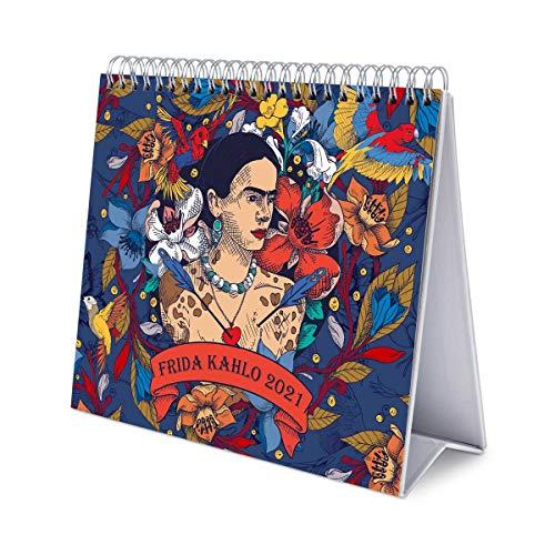Erik® Calendrier Mensuel 2021 Frida Kahlo | Calendrier de Bureau 12 Mois | De Janvier à Décembre 2021