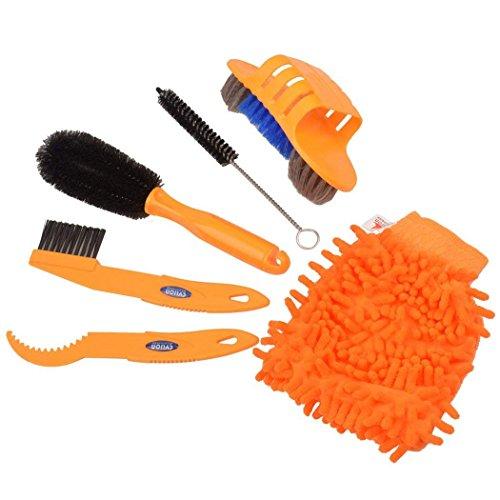 Tofree 6Pcs Fahrrad Reifen Reinigung Tool Set Fahrrad Clean Pinsel Set für Kette, Waschen und Alle Bike