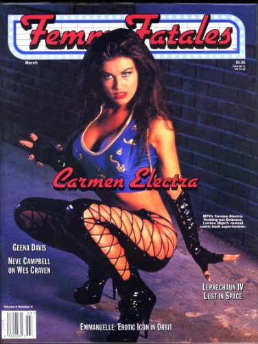 Femme Fatales Magazine - March 1997 - Volume 5 No. 9 - Carmen Electra Cover