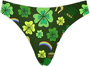 INTERESTPRINT St Patrick's Day Women's Underwear High-Cut Thong Panties(XS-3XL)