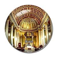 モバイル大聖堂アラバマ米国冷蔵庫マグネットホワイトボードマグネットオフィスキッチンデコレーション