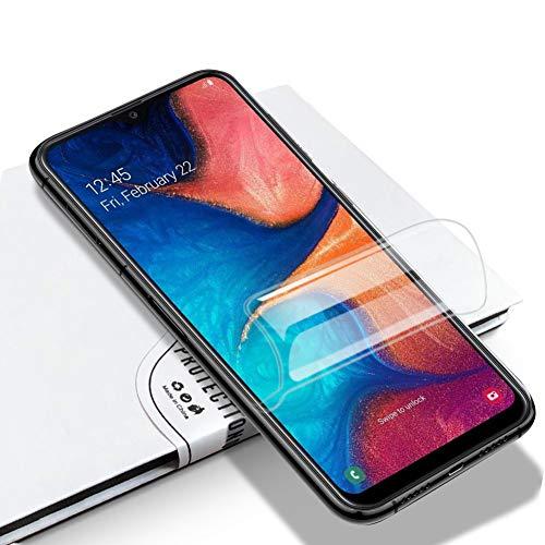 LZS Protector de Pantalla Samsung Galaxy A40, Membrana Protectora de hidrogel de Membrana Flexible Totalmente Cubierta sin Agua pulverizada. Diseñado para Pantallas de teléfono curvadas