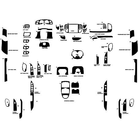 Brushed Black Aluminum Rvinyl Rdash Dash Kit Decal Trim for Ford Mustang 2015-2020