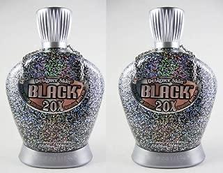 Lot of 2 Black 20X Tanning Lotion by Designer Skin