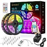 Onforu 20M Smart LED Strip Lights, 65ft WiFi RGB Light Strip, Compatible