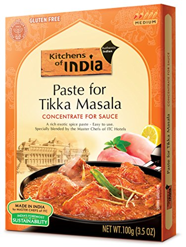 Kitchens of India Paste for Tikka Masala, 3.5 Ounces (Pack of 6), Easy-to-Use Spice Paste for Authentic Indian Dish - Veg Tikka Masala or Chicken Tikka Masala