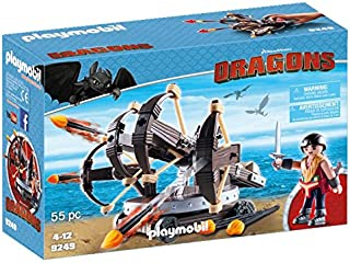 Playmobil Dreamworks Dragons Eret With 4 Shot Firing Ballista Building Toy - (4 - 12 Years) - Multi Color