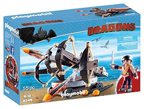 Playmobil 9249 DreamWorks Dragons Eret with 4 Shot Firing Ballista