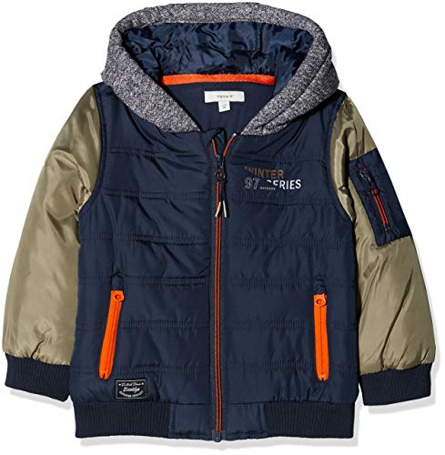 NAME IT Baby-Jungen NMMMOLE Jacket Jacke, Mehrfarbig Dress Blues, 98