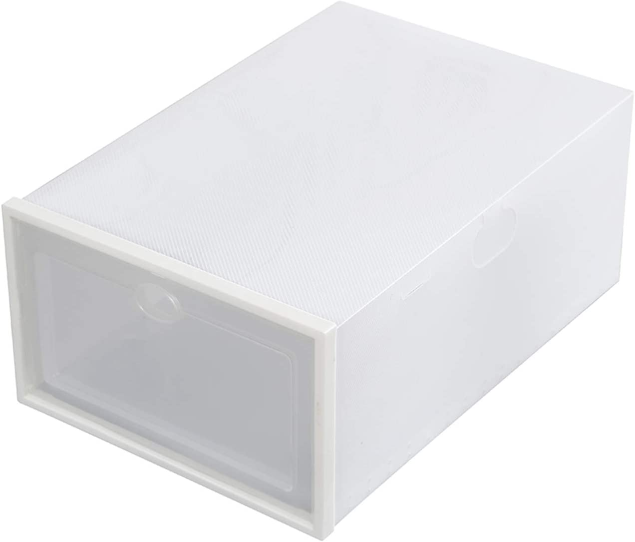 24 Pack Excellence Superior Shoe Storage Box Folding Clear Plastic Cl Organizer