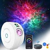 LED Alexa Proyector Estrellas, ZOTO 3D Protector Galaxia con Función de Sincronización/Diseño Silencioso, 16 Millones de Colores RGB Dimming+Lámpara de Proyección LED de 4 escenas Niños/Regalo