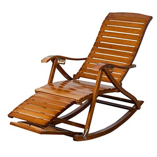 Lounger Silla de jardín reclinable Vintage Silla Mecedora para Adultos Plegable Tumbona...