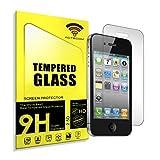 actecom® Protector DE Pantalla Compatible con iPhone 4 4S 4G Cristal Vidrio Templado