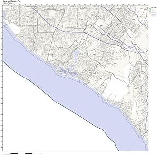Newport Beach, CA ZIP Code Map Laminated