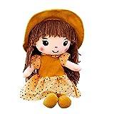 MuñEca Detrapo, MuñEca De Trapo Esponjosa, Peluche Regalo De NiñA Juguete De Peluche Cute Little Girls Dolls Companion Toys para Regalos De CumpleañOs De Navidad (40cm, Amarillo)