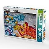 Graffiti an der Turnhalle Gamigstraße 1000 Teile Puzzle quer