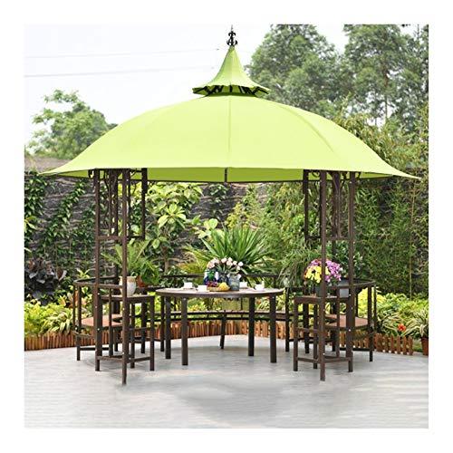YYDD Villa Garden Furniture, Outdoor Gazebo Lawn Tent, 12x12 FT Outdoor Gazebos for Patios with Desk, Patio Pavilion, Outdoor Party Pergola, Family Gathering