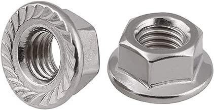 Stainless Steel Serrated Hex Flange Nuts Locknuts 50 Pcs (M8)