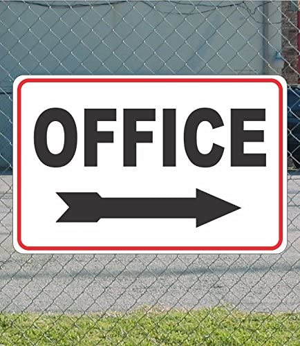 Office Right Arrow White Red Metal Sign Overseas parallel import regular item At the price Black