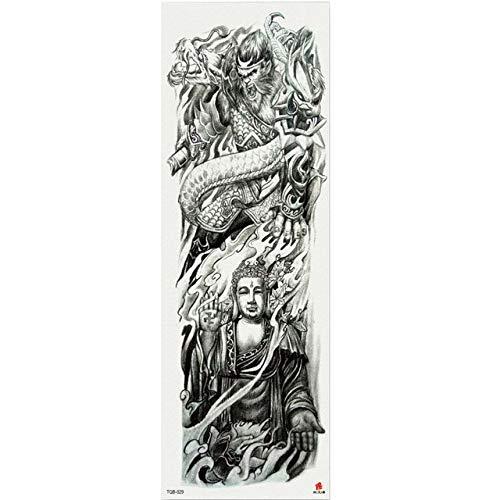 7pcs Tatuaje impermeable del tatuaje pieza metálica de oro de Buda Estatuas tatuaje patrón