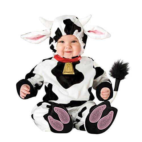 YYF Baby Jungen Mädchen Kleinkinder Animal Kostüm Halloween Party Jumpsuit Winter Strampler Kuh 80cm