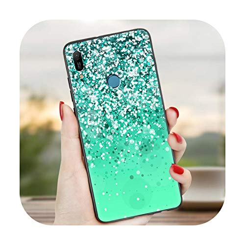 Carcasa para Huawei Y6 Y7 Y9 2019 Y9s Y5p Y6p Y8p Y6s Y9s Y9a Mate 20 Lite Pro Negro Shell Cover -B03-para Huawei Y7a