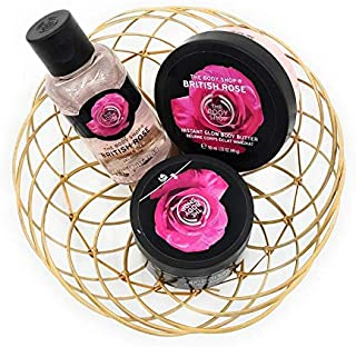 The Body Shops Mini British Rose Collection of Butter, Scrub and Shower Gel (Combo of 3 Item)