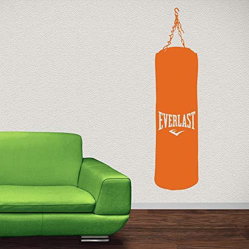 Aicedu bokszak van vinyl stickers en kettingen voor de muur, fitness, boksing, muurstickers, sport, fitnessstudio, decoratie, wallpaper, 31 x 126 cm