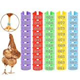 MEWTOGO 100 Pcs Chicken Leg Rings- Colorful Numbered Chicken Identification Leg Bands Poultry Leg Bands Clip on Leg Rings for Ducks Chicks Chicken Guinea Pigeons Goose Gamefowl Turkey (16mm)