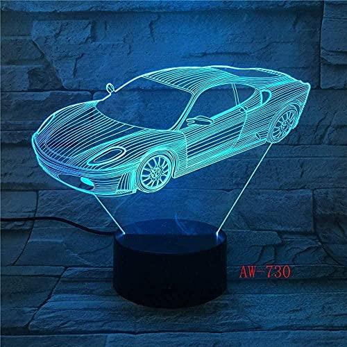 MHLYY 3D Boy Girl Night Light 3D Lámpara de mesa de acrílico con ilustración cómic, luz de noche para dormitorio de niños, luz de noche 7 colores + mando a distancia N151