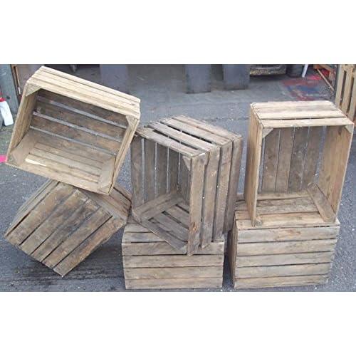 Vintage Wooden Crate Amazoncouk