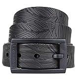 Tie-Ups® Cinturón de Caucho con Hebilla de plástico | Sin níquel, sin Metal | Cinturones para Hombres y Mujeres | Color Black Palma