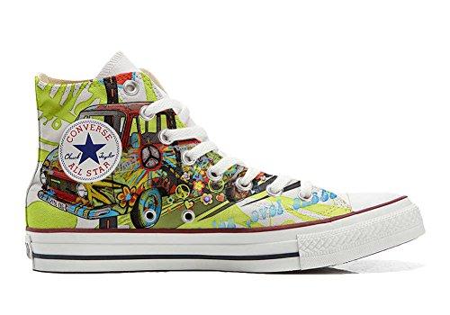 MYS Sneaker Original Hi Customized personalisiert Schuhe (gedruckte Schuhe) Peace and Love TG39
