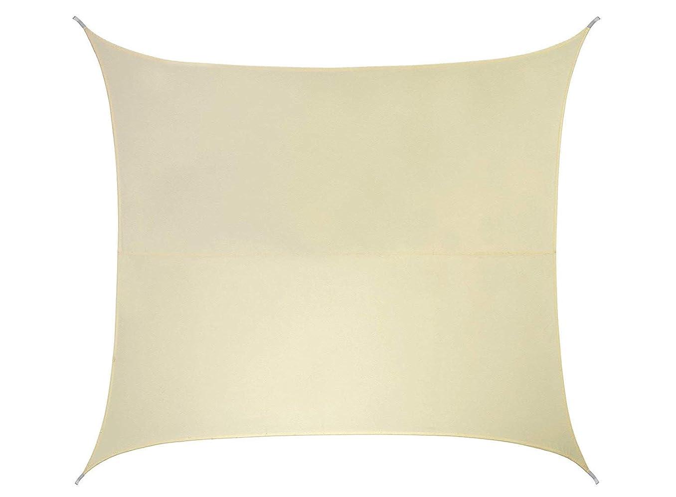 貫入仲間、同僚飢饉クッカバラ パーティセイルシェード 布帛 アイボリー 紫外線96.5%カット 耐水 (四角: 5.4 x 5.4m)