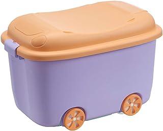 Boîte De Rangement Plastique Empilable avec roulettes,Grande capacité avec Couvercle Organiseur,pour Vêtements Chaussures ...