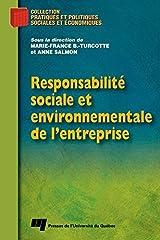Responsabilité sociale et environnementale de l'entreprise Format Kindle