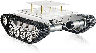 شاسی اتومبیل روبات تانک جذب روشی برای Arduino/Raspberry Pi/Microbit ، اتومبیل ردیابی شده با ضربه گیر ، سکوی جذب کننده ارتعاش Track Crawler با Caterpillar برای DIY Maker