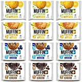 Bake City Muffin Plus Protein   16g Protein in Each Protein Muffin   4oz Each, 12 Pack (Variety Best Sellers)