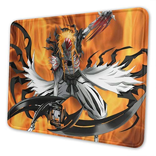 Anime Bleach Mousepad Anti-Slip Gaming Mouse Pad Mat Mice Rectangle Rubber Mousepad for Desktop Mouse Pad Laptop Mouse Pad Gaming Mouse Pad 10 X 12 Inch