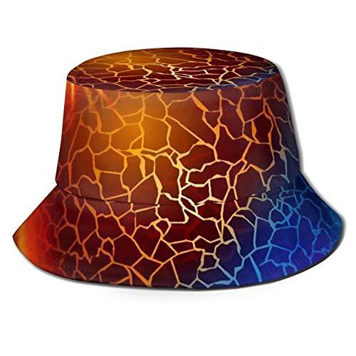 GAHAHA Fischerhüte für Herren, roter Kreis, blau, Fischermütze, tragbar, Sonnenschutz, UV-Schutz, Unisex, faltbar, Sommerhut