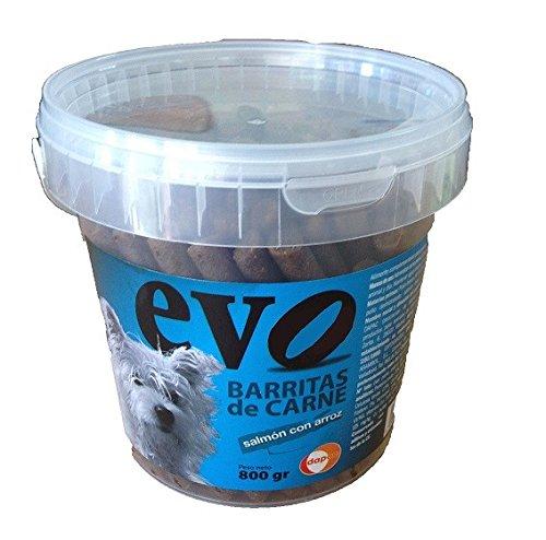 Evo saumon Barritas avec du riz pour les chiens, 70% de la viande fraîche, 800 g.
